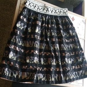 GORGEOUS* Anthropologie Floreat Overlay Lace Skirt